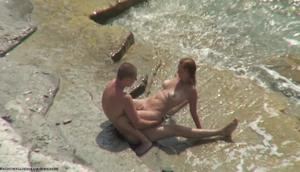 Hot blonde teen sucks, gets fucked and the beach