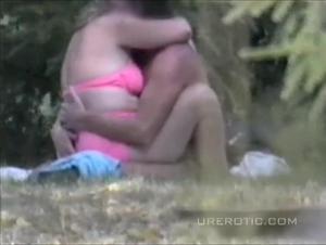 Blonde fucks on public nude beach