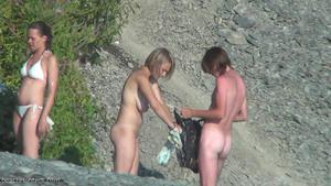 Real Amateur video of spying on nudists at the beach