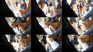 蟻さんの視点。エロ脚ミニスカの女子高生。3作品