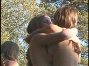 Family Pure Nudism Focus In Forest