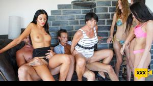Family Screw - Two Sisters In A Hardcore Family Fuck