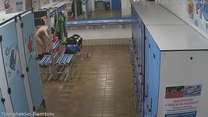 Dressing room at Aquapark